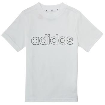 Odjeća Dječak  Majice kratkih rukava adidas Performance ALBA Bijela