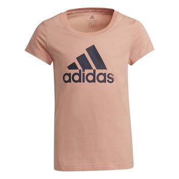 Odjeća Djevojčica Majice kratkih rukava adidas Performance ALBERIC Ružičasta