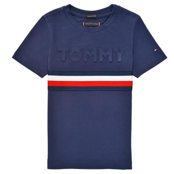 Odjeća Dječak  Majice kratkih rukava Tommy Hilfiger ELEONORE Blue
