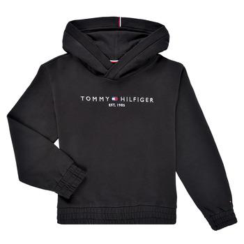 Odjeća Djevojčica Sportske majice Tommy Hilfiger DEMINRA Crna