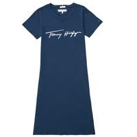Odjeća Djevojčica Kratke haljine Tommy Hilfiger POLINE Blue