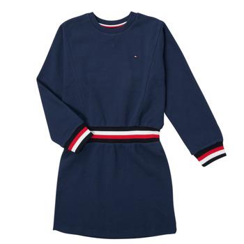 Odjeća Djevojčica Kratke haljine Tommy Hilfiger ARNO Blue