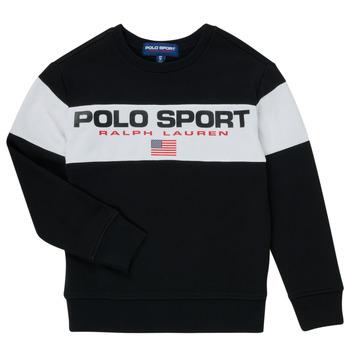 Odjeća Dječak  Sportske majice Polo Ralph Lauren SIMEON Crna