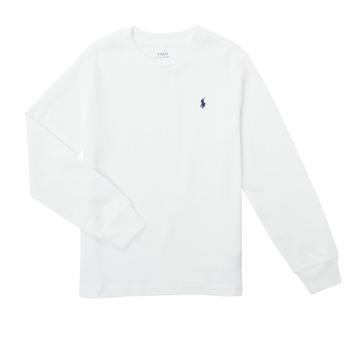 Odjeća Dječak  Majice dugih rukava Polo Ralph Lauren KEMILO Bijela