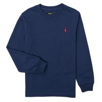 Odjeća Dječak  Majice dugih rukava Polo Ralph Lauren KEMILO Blue