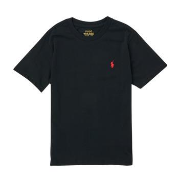 Odjeća Dječak  Majice kratkih rukava Polo Ralph Lauren FANNY Crna