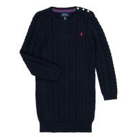 Odjeća Djevojčica Kratke haljine Polo Ralph Lauren RURBE Blue