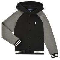 Odjeća Dječak  Sportske majice Polo Ralph Lauren DENINO Crna / Siva