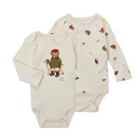 Odjeća Dječak  Bodiji Polo Ralph Lauren TAKINA Krem boja