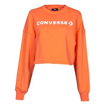Odjeća Žene  Sportske majice Converse EMBROIDERED WORDMARK CREW Narančasta