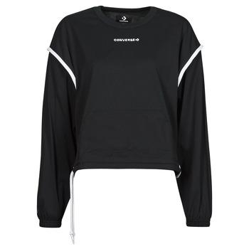 Odjeća Žene  Sportske majice Converse LONG SLEEVE JERSEY CREW Crna