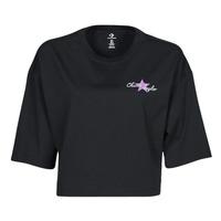 Odjeća Žene  Majice kratkih rukava Converse CHUCK INSPIRED HYBRID FLOWER OVERSIZED CROPPED TEE Crna
