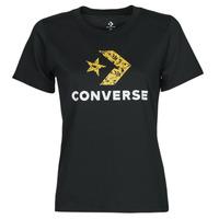 Odjeća Žene  Majice kratkih rukava Converse STAR CHEVRON HYBRID FLOWER INFILL CLASSIC TEE Crna