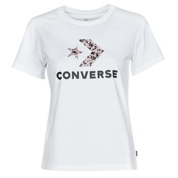 Odjeća Žene  Majice kratkih rukava Converse STAR CHEVRON HYBRID FLOWER INFILL CLASSIC TEE Bijela