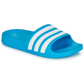 Obuća Djeca Sportske natikače adidas Performance ADILETTE AQUA K Blue / Bijela