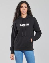 Odjeća Žene  Sportske majice Levi's GRAPHIC STANDARD HOODIE Crna