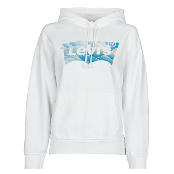 Odjeća Žene  Sportske majice Levi's GRAPHIC STANDARD HOODIE Bijela