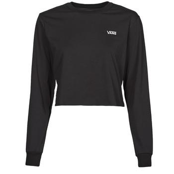 Odjeća Žene  Majice dugih rukava Vans JUNIOR V LS CROP Crna