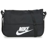 Torbe Torbe za nošenje preko tijela Nike NIKE SPORTSWEAR Crna / Bijela