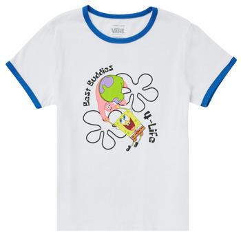 Odjeća Djevojčica Majice kratkih rukava Vans VANS X SPONGEBOB BEST BUDDIES RINGER Bijela