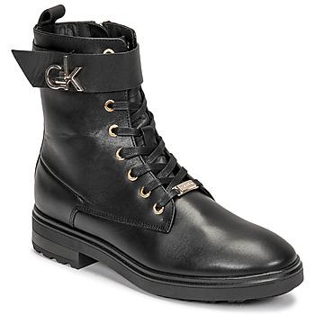 Obuća Žene  Gležnjače Calvin Klein Jeans CLEAT BIKER BOOT Crna