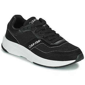 Obuća Muškarci  Niske tenisice Calvin Klein Jeans LOW TOP LACE UP MIX Crna