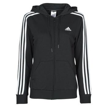 Odjeća Žene  Sportske majice adidas Performance W 3S FT FZ HD Crna