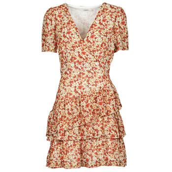 Odjeća Žene  Kratke haljine Moony Mood ORNAMA Bijela / Multicolour