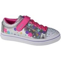 Obuća Djeca Derby cipele & Oksfordice Skechers Twilites Srebrna
