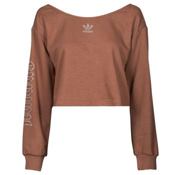 Odjeća Žene  Sportske majice adidas Originals SLOUCHY CREW? Smeđa
