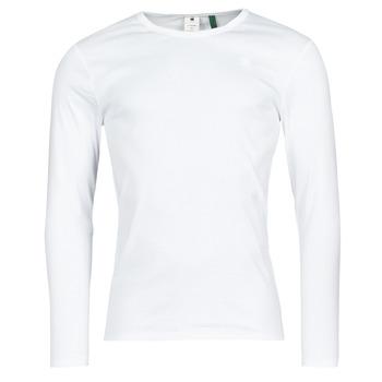 Odjeća Muškarci  Majice dugih rukava G-Star Raw BASE R T LS 1-PACK Bijela