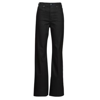 Odjeća Žene  Bootcut traperice G-Star Raw DECK ULTRA HIGH WIDE LEG Crna