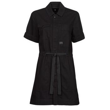 Odjeća Žene  Kratke haljine G-Star Raw ARMY DRESS SHORT SLEEVE Crna