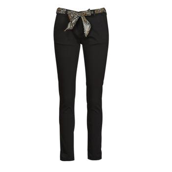 Odjeća Žene  Chino hlačei hlače mrkva kroja Le Temps des Cerises LIDY901 Crna