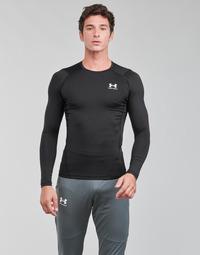 Odjeća Muškarci  Majice dugih rukava Under Armour UA HG ARMOUR COMP LS Crna / Bijela