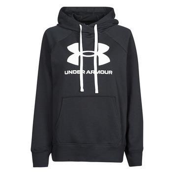 Odjeća Žene  Sportske majice Under Armour RIVAL FLEECE LOGO HOODIE Crna / Bijela