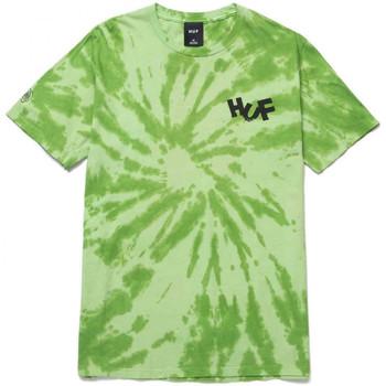 Odjeća Muškarci  Majice / Polo majice Huf T-shirt haze brush tie dye ss Zelena