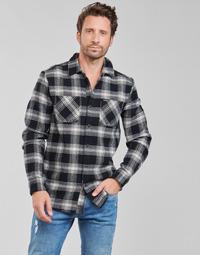 Odjeća Muškarci  Košulje dugih rukava Volcom TONE STONE L/S Crna
