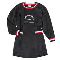 Odjeća Djevojčica Kratke haljine Karl Lagerfeld RUBIS Crna