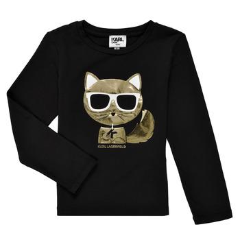 Odjeća Djevojčica Majice dugih rukava Karl Lagerfeld AMETHYSTE Crna
