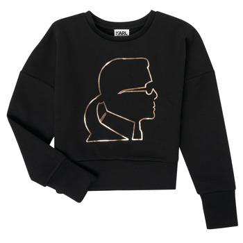 Odjeća Djevojčica Sportske majice Karl Lagerfeld CORNALINE Crna