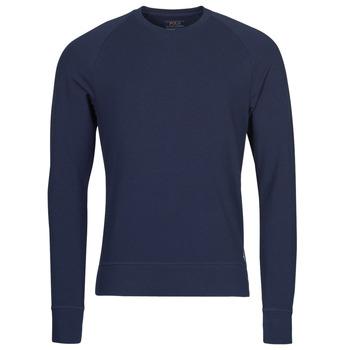 Odjeća Muškarci  Majice dugih rukava Polo Ralph Lauren LS CREW SLEEP TOP Blue
