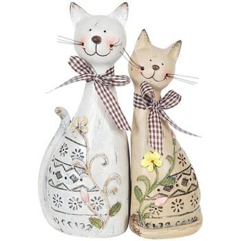 Dom Dekorativni predmeti  Signes Grimalt Par mačaka SET 2 jedinice Multicolor