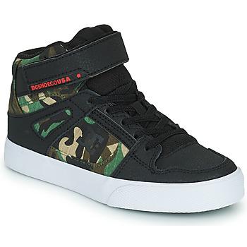 Obuća Dječak  Visoke tenisice DC Shoes PURE HIGH-TOP EV Crna / Maskirni uzorak