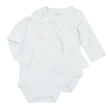 Odjeća Djevojčica Pidžame i spavaćice Carrément Beau ANTHRACITE Bijela