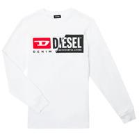 Odjeća Djeca Majice dugih rukava Diesel TDIEGOCUTY ML Bijela