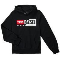 Odjeća Djeca Sportske majice Diesel SGIRKHOODCUTYX OVER Crna
