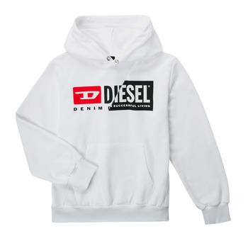 Odjeća Djeca Sportske majice Diesel SGIRKHOODCUTYX OVER Bijela