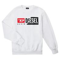 Odjeća Djeca Sportske majice Diesel SGIRKCUTY OVER Bijela