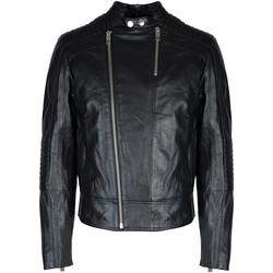 Odjeća Muškarci  Kožne i sintetičke jakne Les Hommes  Crna